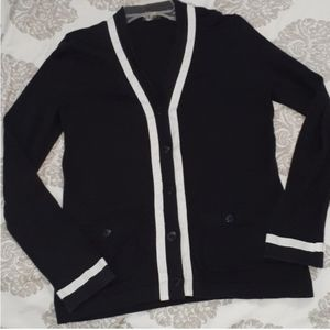 CHANEL black and white cardigan small